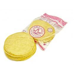 Tortillas de maiz amarillo de 15 cm