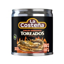 Chiles Serranos Toreados 220g. La Costeña