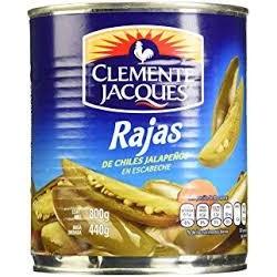 Chile Jalapeño en Rajas 2.80 Clemente Jaques