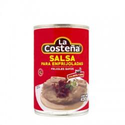 Salsa para enfrijoladas Frijoles bayos lata 420 gr La Costeña