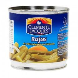 jalapeño rajas 380g clemente jaques lata