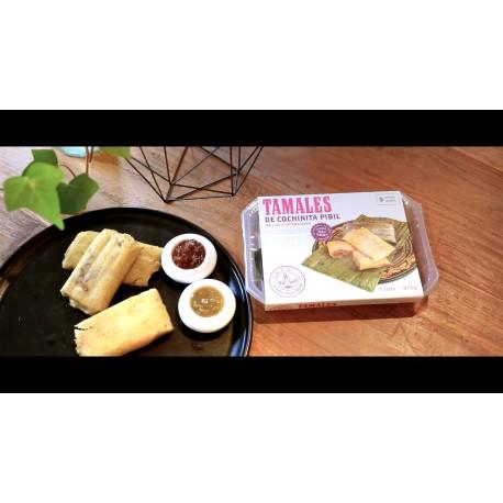 Tamales de Cochinita Pibil 3 unidades